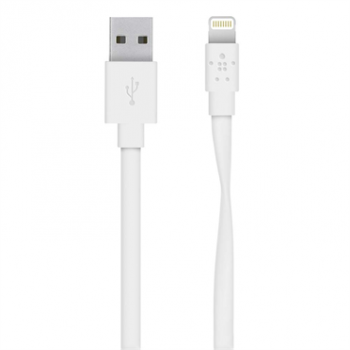 Кабель Belkin Mixit Flat Lightning to USB Cable White (1.2 m)